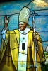 Pope John Paul II . Stained glass window for a chapel in St. Marry Catholic Church in Huntley, IL.