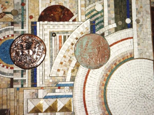 Mural mosaic in Bulgarian national bank