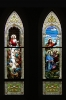 Last Supper and Crucifixion. Set of four windows in St. Michaels in Wheaton, IL. Depicting the last days of Jesus Christ.