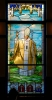 Pope John Paul II . Stained glass window I've created recently for a chapel in St. Marry Catholic Church in Huntley, IL.