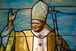 Pope John Paul II .Stained glass windows for a chapel in St. Marry Catholic in Huntley ,IL